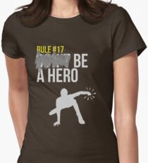 Zombie Survival Guide - Rule #17: Be A Hero Women's Fitted T-Shirt