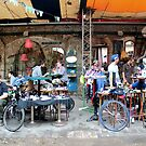 Budapest - People In The Court Yard, Szimpla Kert by rsangsterkelly