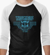 Wreck 'n' Rule - Blue Men's Baseball ¾ T-Shirt