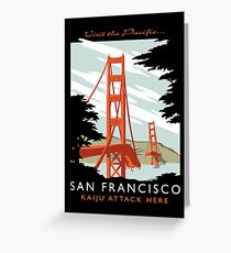 Visit The Pacific Print Greeting Card