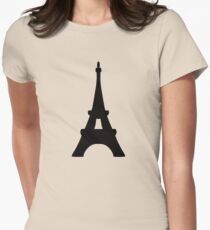 Eiffel Tower of France Womens Fitted T-Shirt