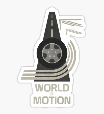 World of Motion Sticker