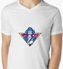 American Patriot Minuteman Flintlock Pistol Mens V-Neck T-Shirt