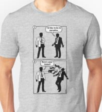Cartoon: I'd like to be in paradise. Here's your ticket! Unisex T-Shirt