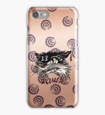 Unlucky in love black cat iPhone Case/Skin