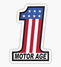 Motor Age American Flag 1 Sticker