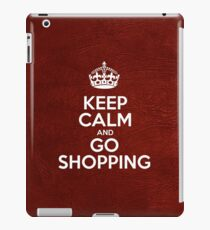 Keep Calm and Go Shopping - Red Leather iPad Case/Skin