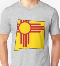 New Mexico Flag [Blk] | State Line | SteezeFSC Unisex T-Shirt