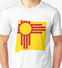 New Mexico Flag   State Line   SteezeFSC Unisex T-Shirt