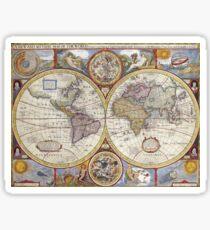 Old Map Sticker