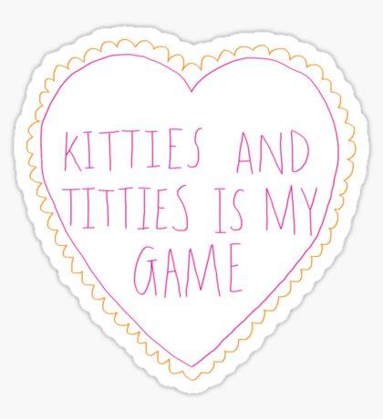 Kitties and Titties Sticker