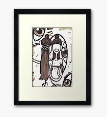 mirror. Framed Print