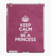 Keep Calm and Be a Princess - Pink Leather iPad Case/Skin