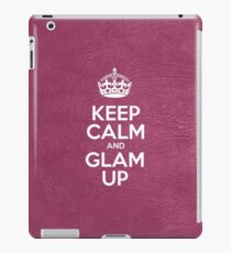 Keep Calm and Glam Up - Pink Leather iPad Case/Skin