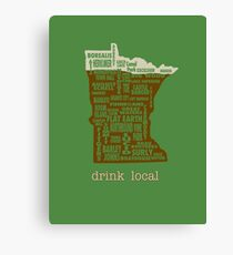 MN Drink Local Canvas Print