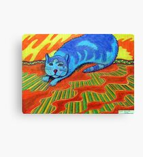 384 - SNARFE IN BLUE - DAVE EDWARDS - COLOURED PENCILS - 2013 Canvas Print