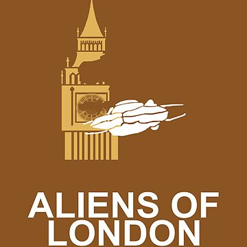 Minimalist 'Aliens of London' Poster by Abboz