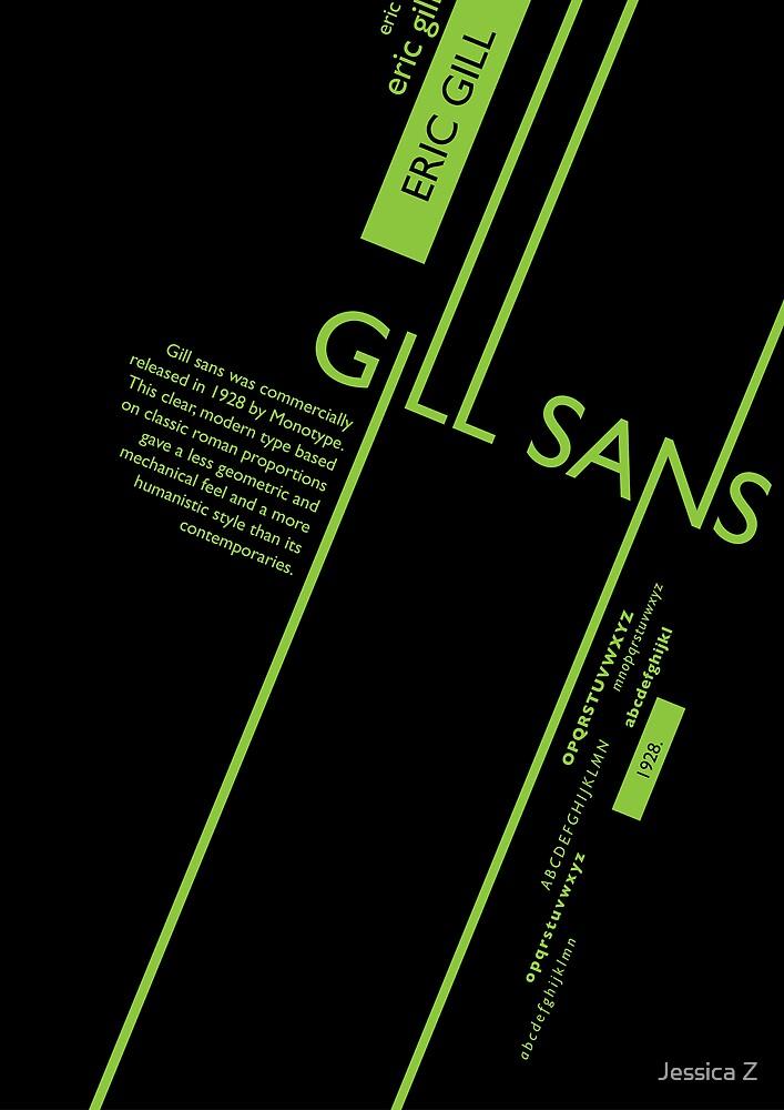 Gills Sans Typography Poster by smallgreenfox