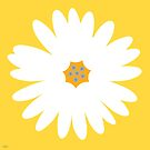 white daisy yellow by hennydesigns