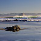 Large Surf Morro Bay by Cathy L. Gregg