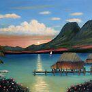 Tahitian Sunset by Gordon Beck