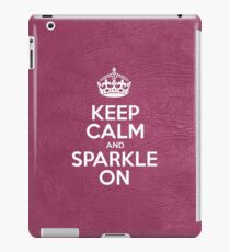 Keep Calm and Sparkle On - Pink Leather iPad Case/Skin