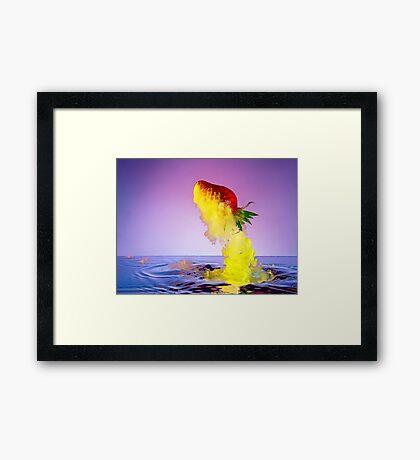 Strawberry Rocket Framed Print