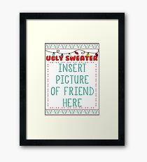 Ugly Christmas Sweater Framed Print