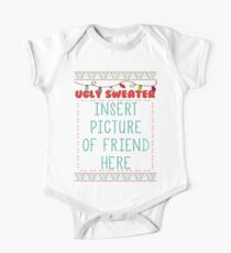 Ugly Christmas Sweater One Piece - Short Sleeve