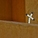 CROSS ON RECTORY ACOMA PUEBLO by Thomas Barker-Detwiler