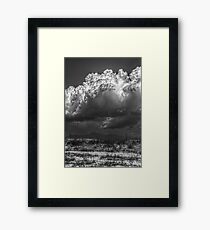 B&W Clouds/Mountain Landscape Framed Print