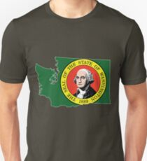 Washington State Rasta [Wht] | SteezeFSC Unisex T-Shirt