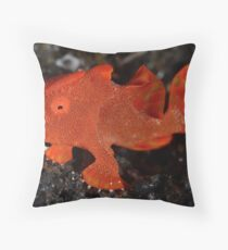 Juvenile Painted Frogfish Throw Pillow