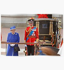 The Queen and The Duke Of Kent after Trooping The Colour Poster
