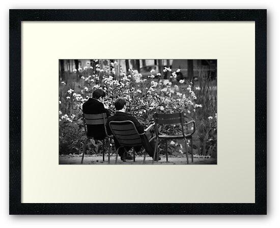 Relaxing in Jardin des Tuileries by Karen E Camilleri