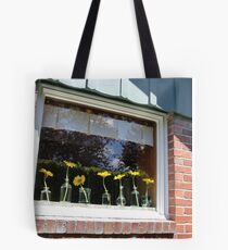 University Place Garden Tour - Home #1 Dancing Gerbera Daisies on a Sill Tote Bag
