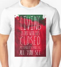 Strawberry Fields Forever - The Beatles - Lyric Poster T-Shirt