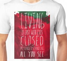 Strawberry Fields Forever - The Beatles - Lyric Poster Unisex T-Shirt