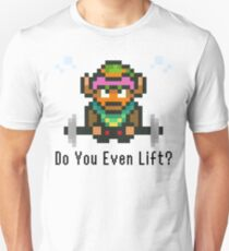 Do You Even Lift? 16-bit Link Edition v2 T-Shirt