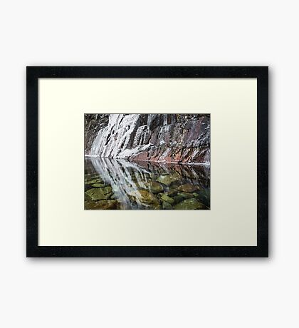 River Etive Ice  Framed Print