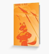 Become a Arwing pilot Greeting Card