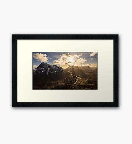 Light In The Valley Framed Print