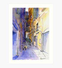 Vicolo di Genova Art Print