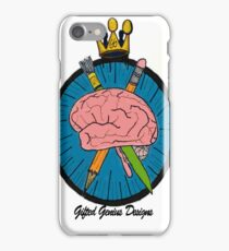 Gifted Genius Designs Logo iPhone Case/Skin