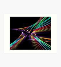 Twist Colour Strands Art Print