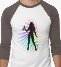 Bong Rip Girl Rainbow-1 (solid) Men's Baseball ¾ T-Shirt