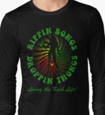 Rippin Bongs-2 (outline) Long Sleeve T-Shirt