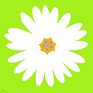 white daisy lime by hennydesigns