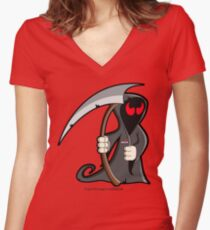 I'm just not EVIL enough to vote REPUBLICAN! Women's Fitted V-Neck T-Shirt