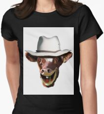 COW BLOKE Womens Fitted T-Shirt
